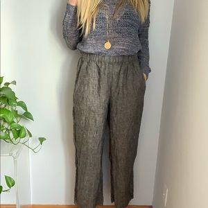 Flax linen pants s small